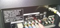 remote input jack on LG tv